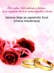 iskrene čestitke za vjenčanje Predaj čestitku iskrene čestitke za vjenčanje